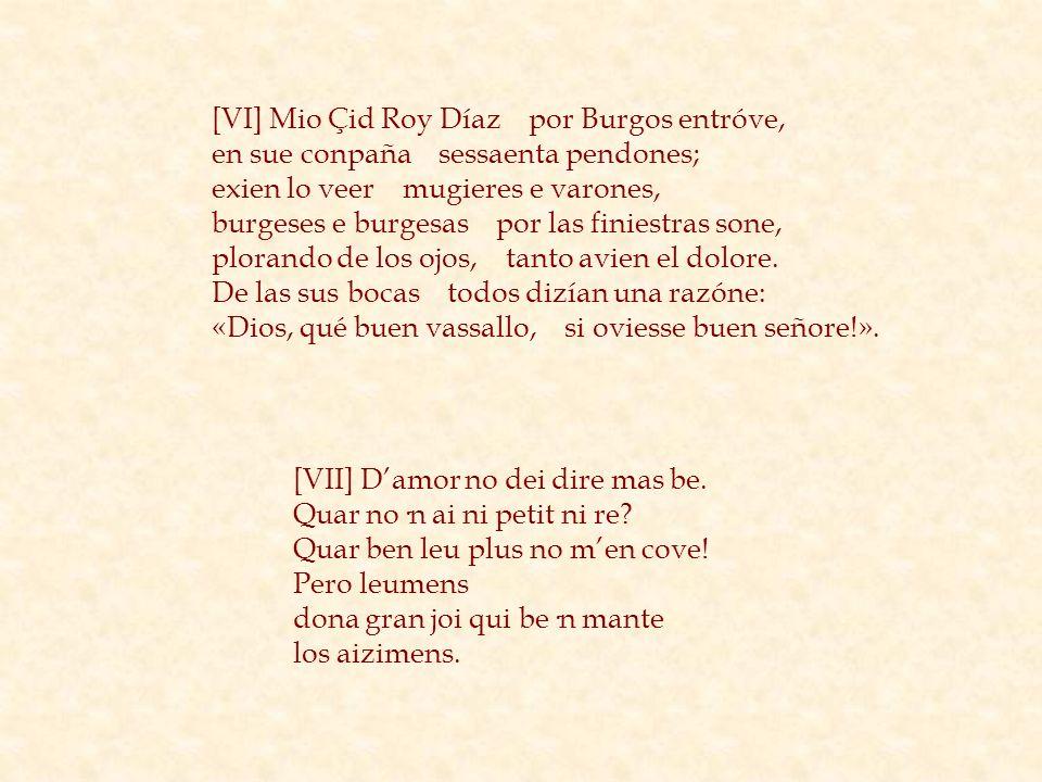 [VI] Mio Çid Roy Díaz por Burgos entróve,